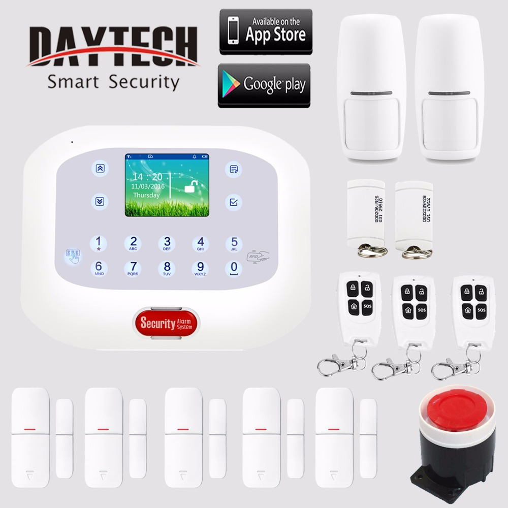 Wireless Home GSM PSTN Burglar Alarm Security System SMS Alert Backup Battery Timing Arm/Disarm APP Control IOS Android GP04 wireless gsm pstn home alarm system android ios app control glass vibration sensor co detector 8218g