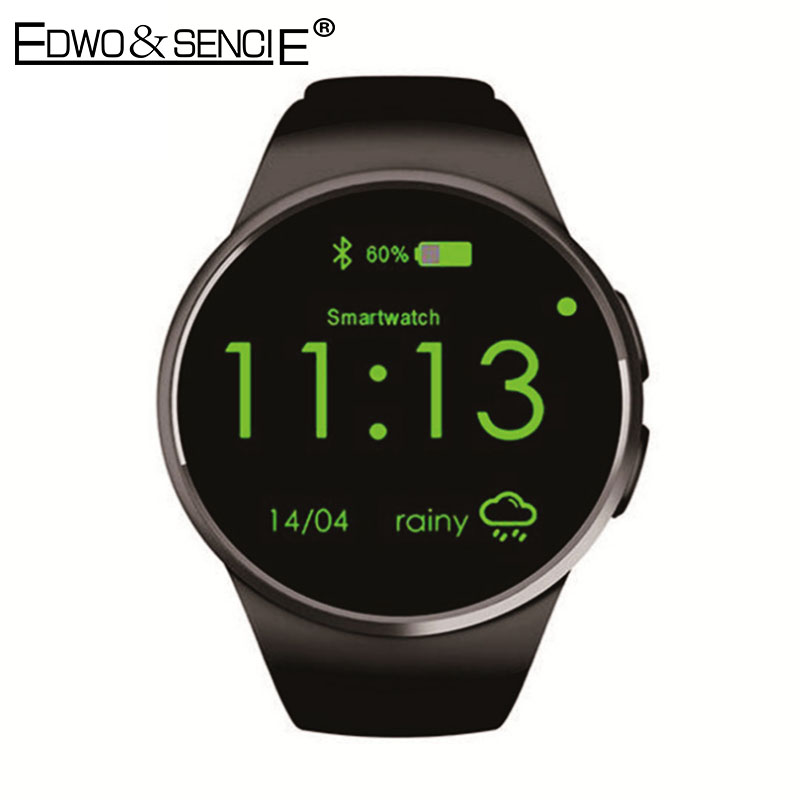 EDWO KW18 Smart Watch Phone Bluetooth 4.0 Heart Rate Monitor 1.3 IPS SIM TF Card Reloj Smartwatch Wearable App For iOS Android kw18 smart watch heart rate monitor sport health smartwatch reloj inteligente sim digital watch compatible for apple ios android
