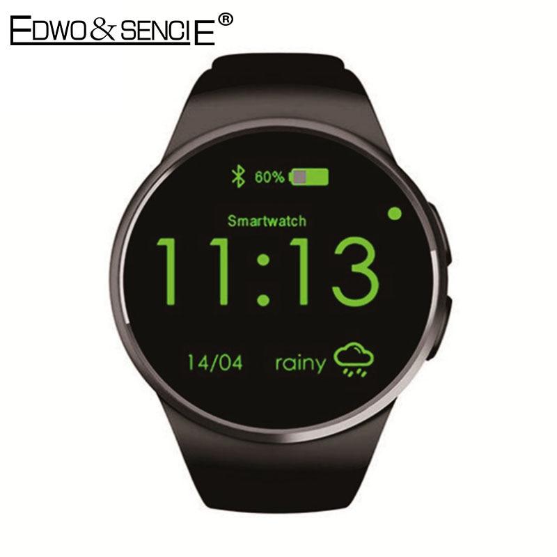 ФОТО EDWO KW18 Smart Watch Phone Bluetooth 4.0 Heart Rate Monitor 1.3