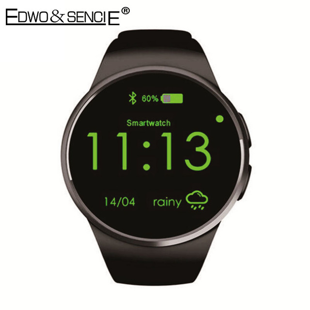"""EDWO KW18 Smart Watch Phone Bluetooth 4.0 Heart Rate Monitor 1.3"""" IPS SIM TF Card Reloj Smartwatch Wearable App For iOS Android"""