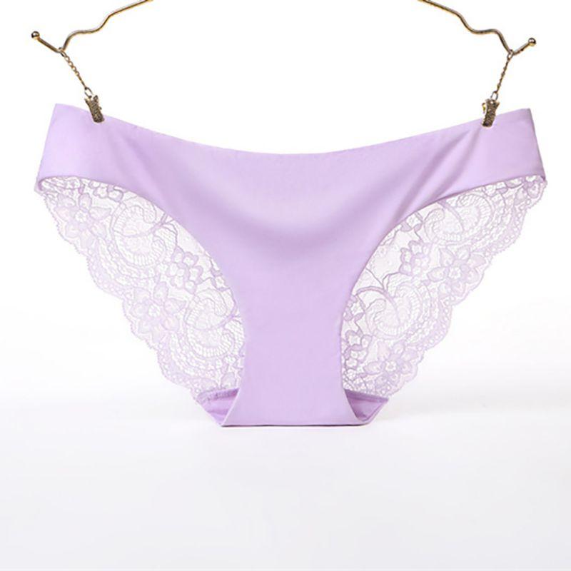 Women Underwear Sexy Lingerie Briefs Cotton Lace Low-Rise Plus Size Female Solid Color Comfortable Panties S-XXL