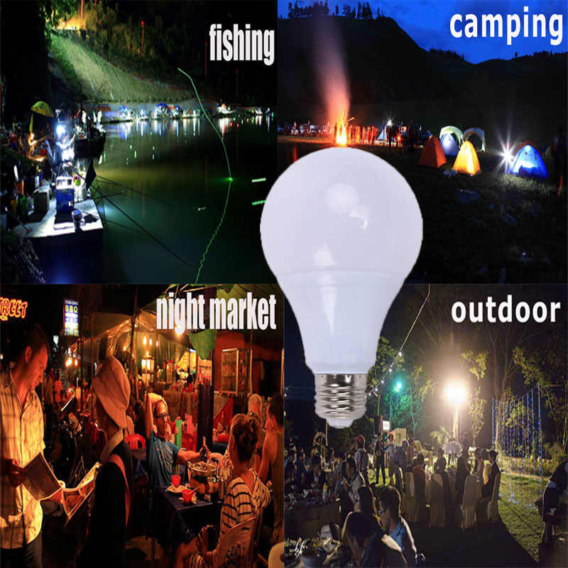Bombilla Led E27 3W 5W 7W DC 12V Led Bulb 9W 12W 15W Lampada Led Light For Home Camping Hunting Emergency Outdoor