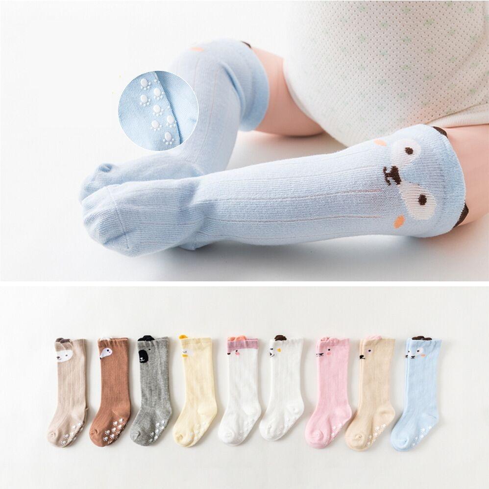 Women's Socks & Hosiery Independent Baby Socks Toddler Knee High Sock Kids Girl Boy Animal Pattern Anti-slip Cute Cartoon Cat Cat Leg Warmers Warm Long Sock