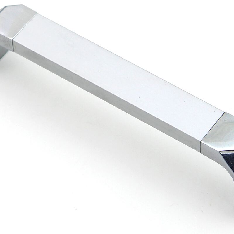 Купить с кэшбэком WV Silver Chrome Handles Cabinet Door Wardrobe Handle Bathroom Door Space Aluminum Alloy Solid Konb Oxidation Modern Pulls 324