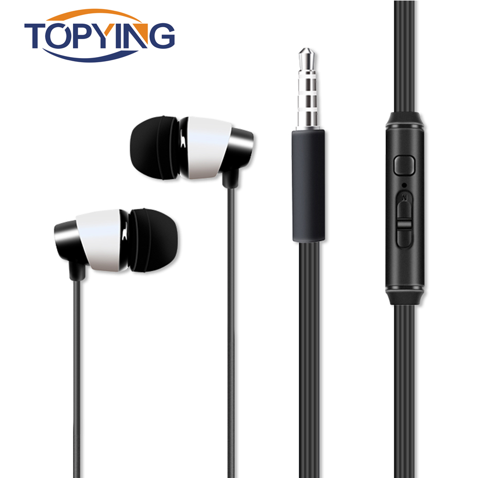 TOPYING Music Stereo Earphone 3.5mm Connector Earphone For Drive 3.5mm Plug Music Stereo ...