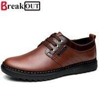 2016 New Fashion Men Oxfords Men Genuine Leather Shoes Business Men Shoes Men Dress Shoes Size