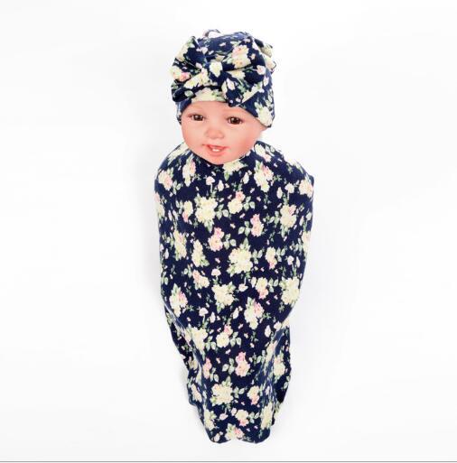 Новинка 2017 дети ѕеленальное Ндеяло и бантом Cap Set бутон цветка одеяло для девочек реквизит пелЄнки из муслина с запахом