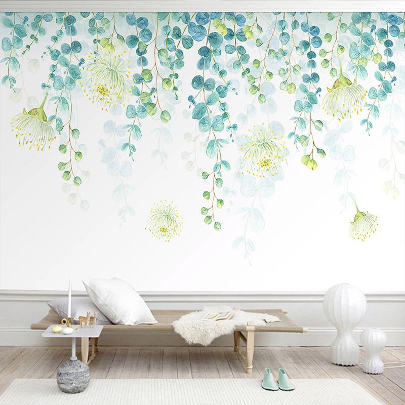 Self-Adhesive Wallpaper 3D Leaves Nordic Style Photo Wall Murals Living Room TV Sofa Bedroom Home Decor Wall Paper 3D Stickers