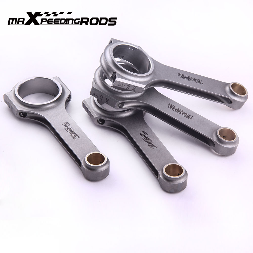Connecting Rods Conrod for Honda Prelude Accord H22 H22A H22A1 143mm without ARP Bolts 4340 EN24 Floating Crankshaft H beam