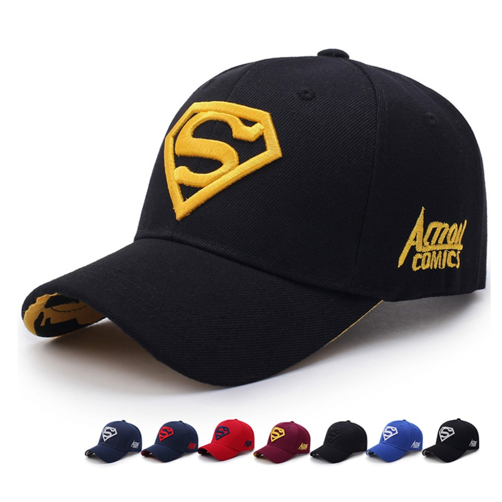 Yo-Young Unisex Superman   Cap   Superman LOGO Embroidery Casual Outdoor   Baseball     Caps   For Men Snapback   Caps   For Adult Sun Hat