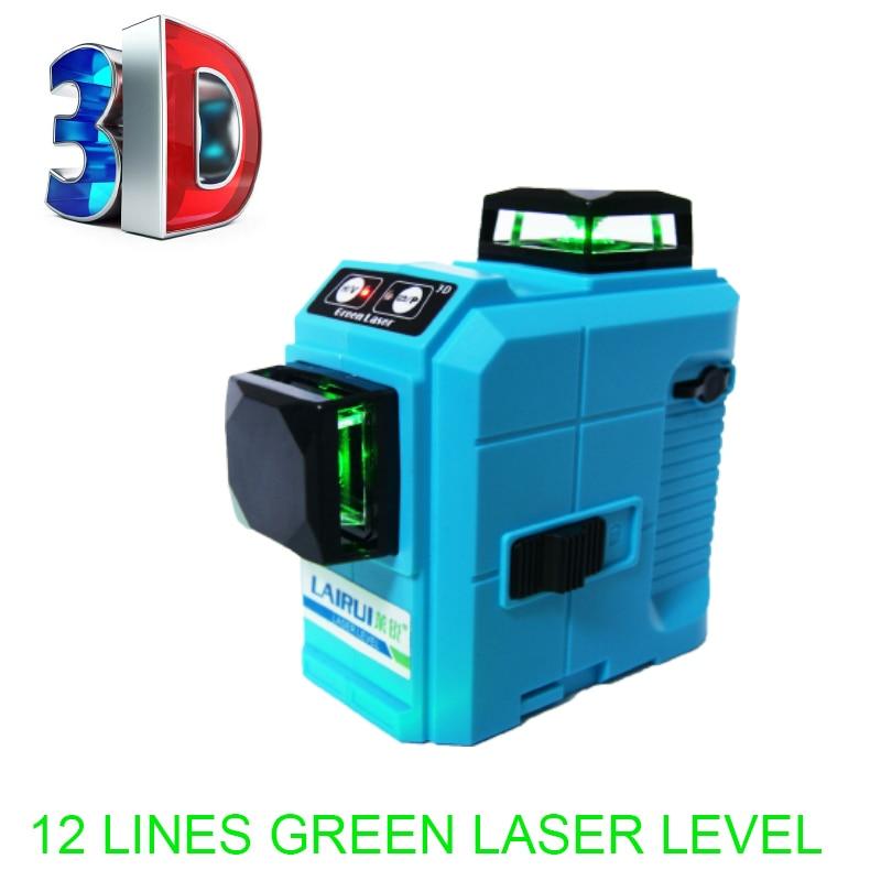 Professional 12 Line red 3D laser level 360 Vertical And Horizontal Laser Level Self-leveling Cross Line 3D Laser Level