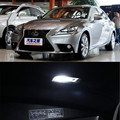 11pcs per set LED Bulb Interior Lights Dome Trunk Door Package Kit For Lexus IS 2013-2014 Car styling