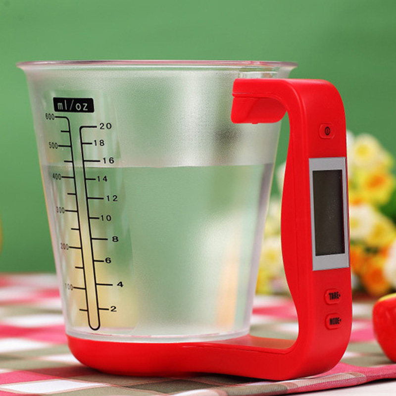 Portable LCD Display Electronic 1Pcs Digital Temperature Measurement Cups Beaker Multifunction Kitchen Scales Measuring Cup