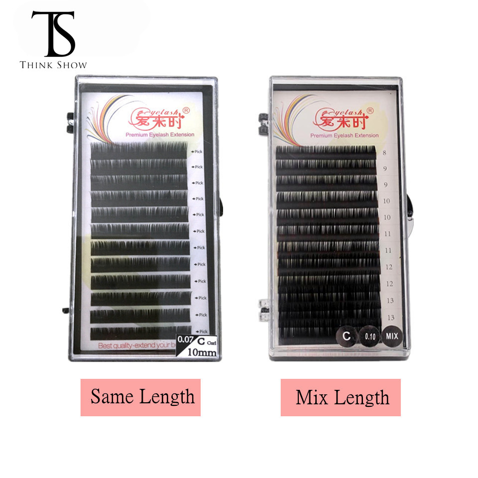 5b0309f10ae THINKSHOW All Sizes Individual Eyelashes Natural Lashes Extension Maquiagem  Cilios for Professionals Faux Mink Eyelash Extension