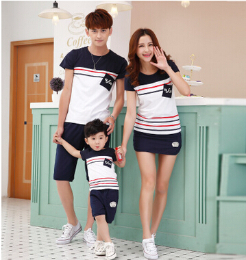new 2016 summer parent-child family pack manufacturer wholesale paternity suit short sleeve T-shirt