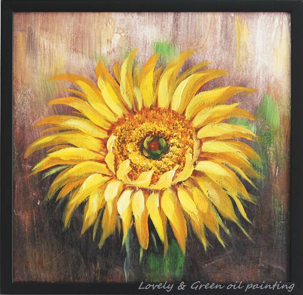 Beautiful Sunflowers Oil Painting Hot Sell Modern Canvas Pictures For Bedroom Decoration Wall Hangings 60X60CM