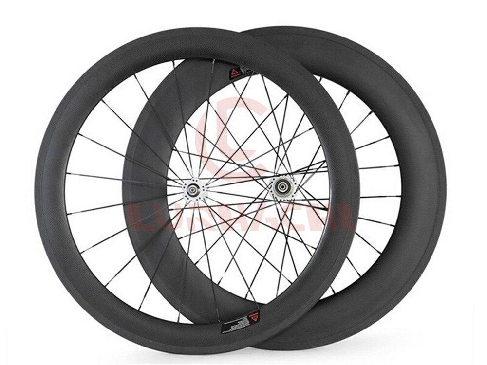 LURHACHI 700C 60mm avant 88mm arrière vélo de route roues en carbone 3 K/UD carbone pneu/tubulaire vélo roues basalte Surface de frein