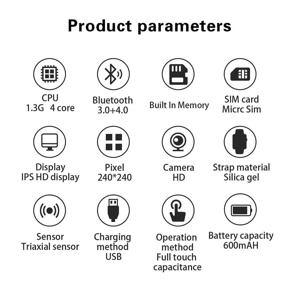 X89 אנדרואיד חכם שעון MTK6580 16G ROM 1GB RAM שעון גברים 3G SIM WiFi ספורט כושר מצלמה GPS Relogio Inteligente PK dm98