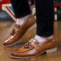 Resorte de La Vendimia borlas Bullock hombres zapatos casuales jóvenes Coreanos señalaron los zapatos transpirables estilista
