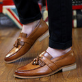 Spring Vintage tassels Bullock men shoes casual Korean youth pointed shoes breathable hair stylist