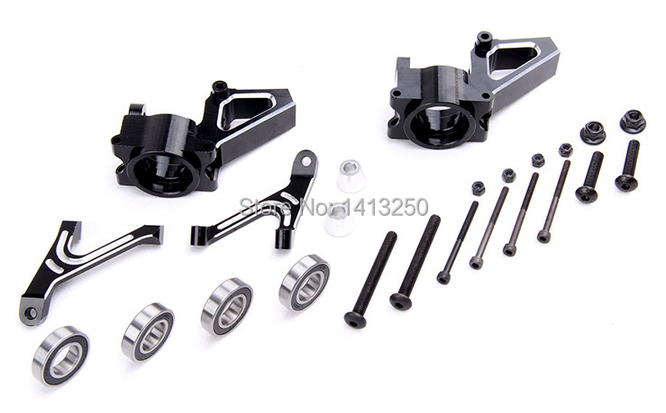 CNC metal black and white front hub carrier for 1/5 hpi baja 5b toy parts alloy front hub carrier for 1 5 hpi baja 5b 5t 5sc