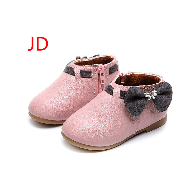 New Pattern Girl Princess Shoe Baby Cotton Sweet Bow Joker Fashion Increase Down Children Kids Boots Botas ...