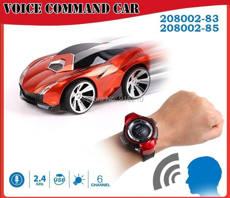 Comando de voz coche rc, toys reloj viene con funciones de voz de radio control
