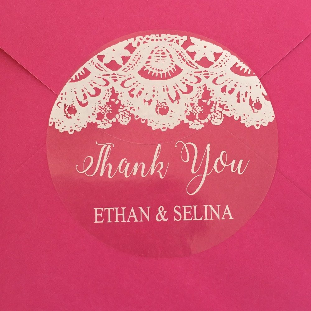 Online Shop 100pcs Personalized Wedding Stickers custom Candy ...