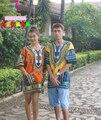 8 cores homens grande impressão Tailândia roupas nacional vento mulheres étnica Tribal roupas soltas tipo de turismo e lazer camisa