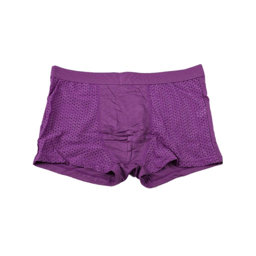 Fashion comfortable Men's boxers Super-elastic Hollow Breathable Antibacterial underwear underpants
