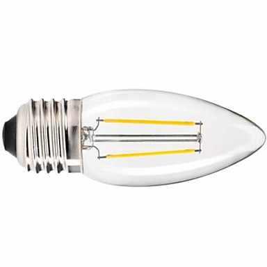 1 יח'\חבילה E27 זכוכית נימה שיכון Cob מנורת LED התירס לילל 220 V תאורת נברשת נר רטרו טונגסטן אור חם לבן