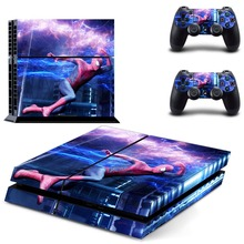 Super Hero The Flash Vinyl Sticker PS4 Skin Decal Sticker For PlayStation4 Console and 2 controller skins