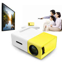 Coolux YG300 YG-300 LCD LED Mini Projector 400-600LM 1080p Video 320 x 240 Pixel Media LED Lamp Player Best Home Projector