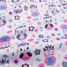 Cartoon Owl Kids Twill Cotton Fabric,Patchwork Cloth,DIY Sewing Quilting Fat Quarters Material For Baby&Child