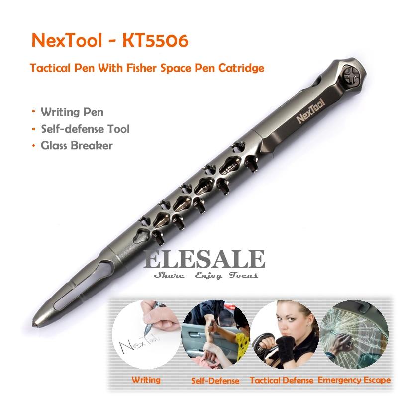 Nouveau NexTool stylo tactique KT5506 avec Fisher Space # SPR4 recharge d'encre noire auto-défense fournitures verre disjoncteur boîte-cadeau