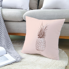 Nordic Style Pink Geometric Cushion Covers Decorative pillows Polyester flowers Pineapple pattern pillow case 45x45cm pillowcase