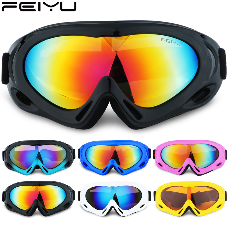 Winter Snowinter Snow Sports Polarized Ski Goggles snowman ski goggles Windproof Lens + Box Set UV400 double layers glasses