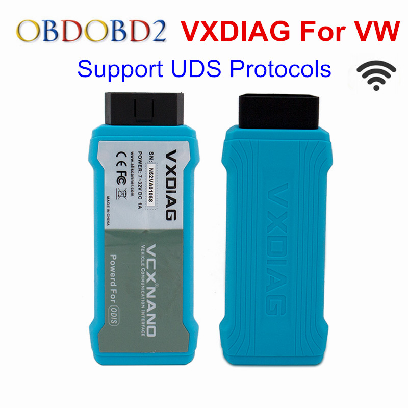 цена на VXDIAG VCX NANO For VW For Audi For Skoda OBD2 Diagnostic Scanner VXDIAG WiFi Version Support UDS Protocol OBD2 Scanner Tool