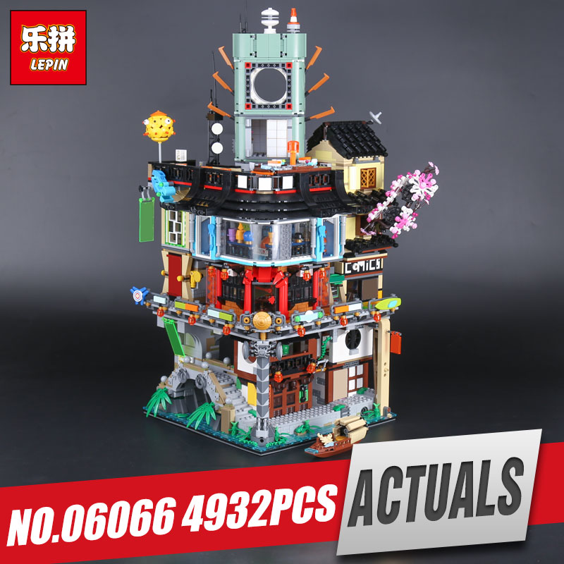 LEPIN 06066 City Series Construction Model Building Blocks kid Toys Bricks Compatible 70620 for Children IN Stock 4932pcs by DHL lepin city creator 3 in 1 beachside vacation building blocks bricks kids model toys for children compatible with lego gift kid