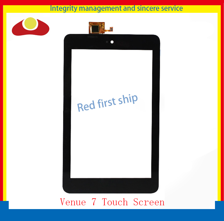 High Quality 7inch For Dell Venue 7 Tablet 3740 3730 Touch Screen With Digitizer Panel Front Glass Lens Free Shipping