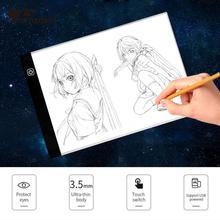AMZDEAL Cópia A4 LEVOU Placa de Escrita Pintura Caixa De Luz De Rastreamento Almofadas Desenho Tablet Artcraft Cópia A4 Placa de Mesa LED