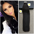 Full Shine Tape in Hair Extensions Color 1B Off Black Real Human Hair Skin Weft 2.5g Per Pcs Straight Brazilian Hair Extensions