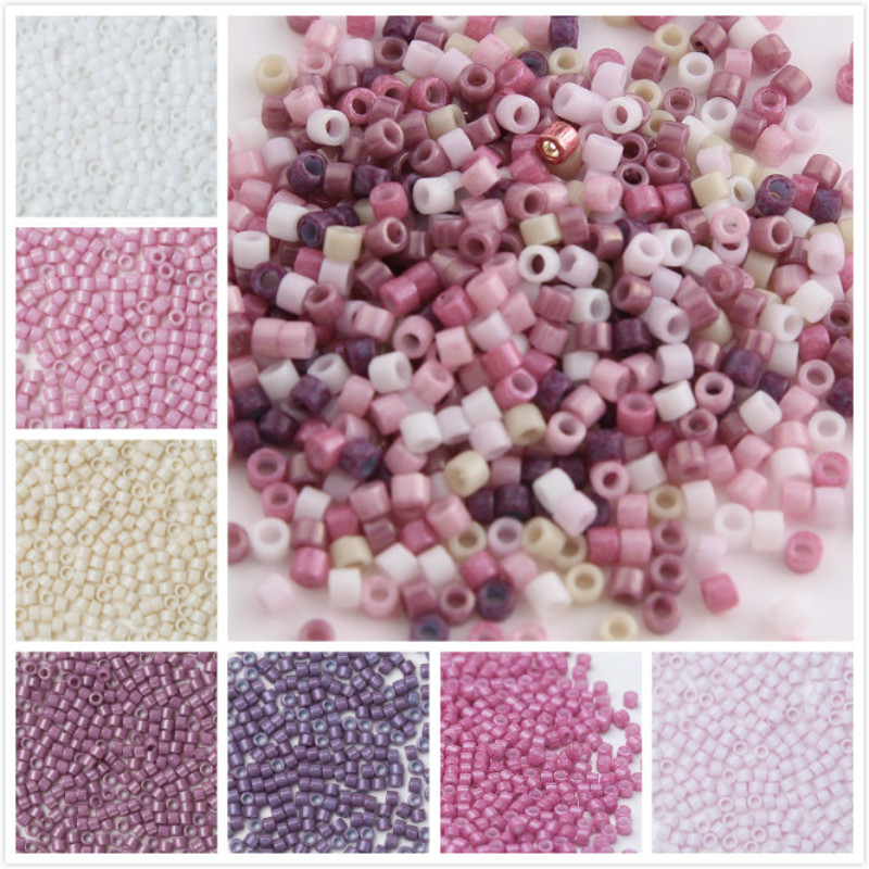 Taidian 11/0 Japanese Delica Seedbeads 5grams Diy Embroider Art 1.6x1.3mm Multi Color About 1000pieces Beads Beads & Jewelry Making
