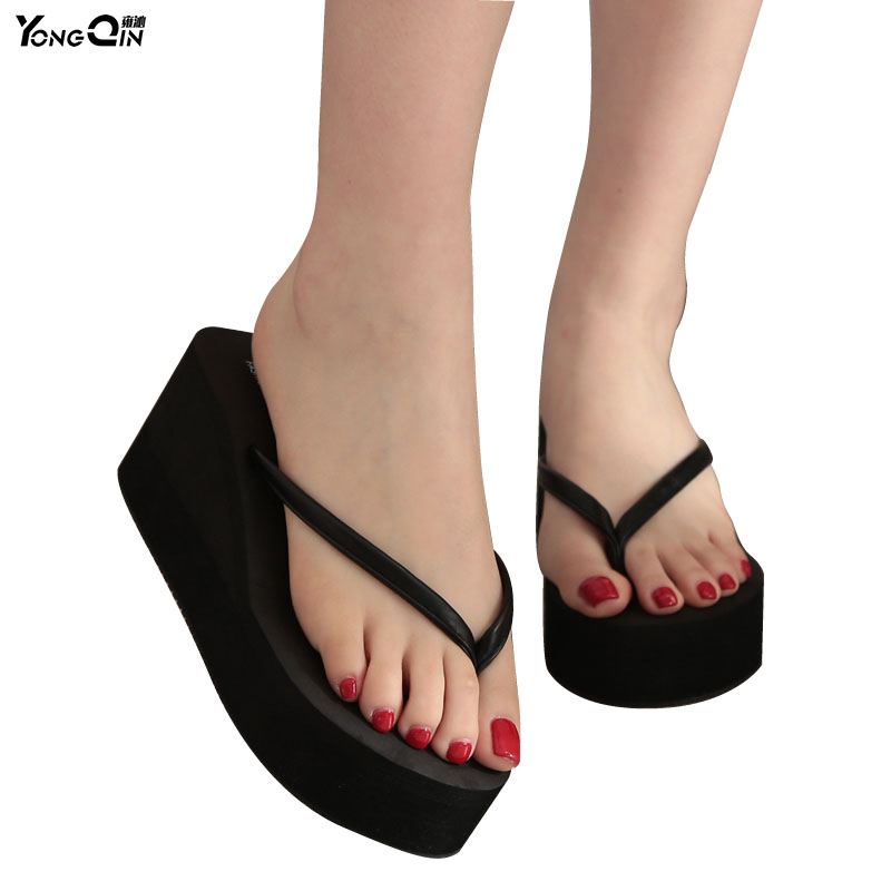 New 2016 Summer Sexy Female Slippers Slip Flip Flops Beach Sandals Shoes Fashionable Casual Sandals Female