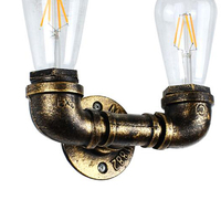 Retro Vintage Edison E27 LED Bulb Iron Pipe Base Lamp Industrial Holder Lighting Living Room Bedroom Bedside Wall Lamp Holder