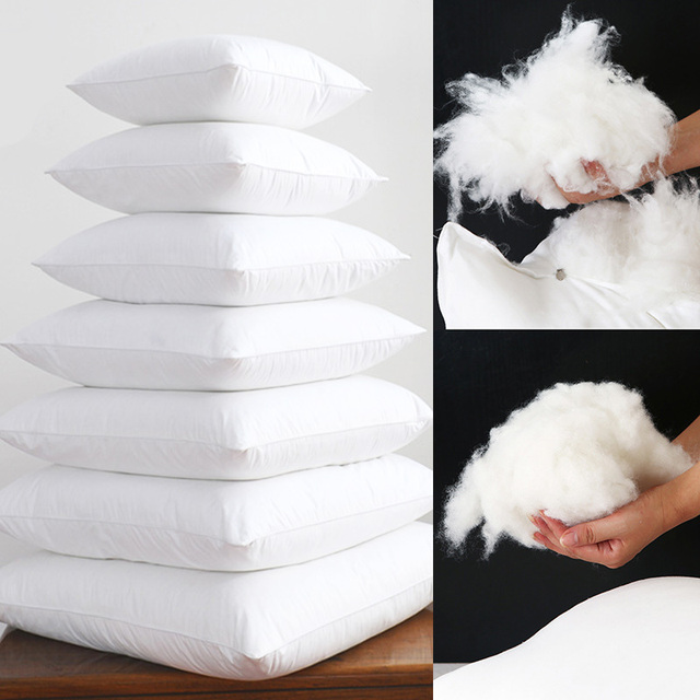 Soft FEATHER FABRIC Fill Square White Cushion Core Inner Natural Down Alternative Throw Pillows for ar Chair Bed Seat Cushion