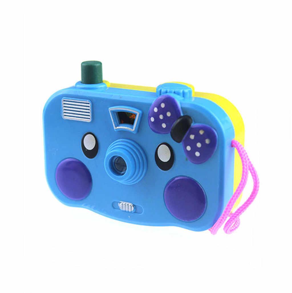 1 قطعة ضوء الإسقاط كاميرا الاطفال ألعاب تعليمية للأطفال الطفل هدايا الحيوانات العالم لون عشوائي لا حاجة لتثبيت البطارية