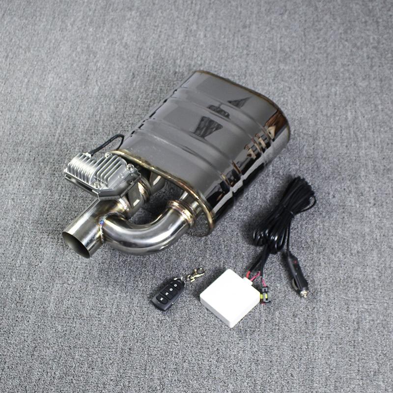 Silencieux Automobile silencieux électrique soupape d'échappement S304 vanne de découpe 63mm une entrée à une sortie silencieux télécommande