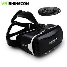 """VR Shinecon II 2.0หมวกกันน็อคแว่นตาเสมือนจริงโทรศัพท์มือถือวิดีโอ3Dภาพยนตร์เกมสำหรับ4.7-6.0 """"โทรศัพท์+ควบคุมระยะไกล"""