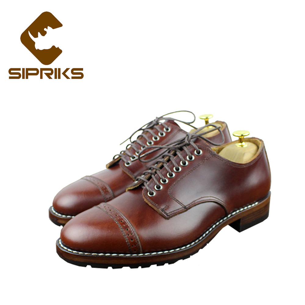 Sipriks wine red dress shoes for men goodyear welted shoes leather soled with thick rubber suits men shoes boss business shoes